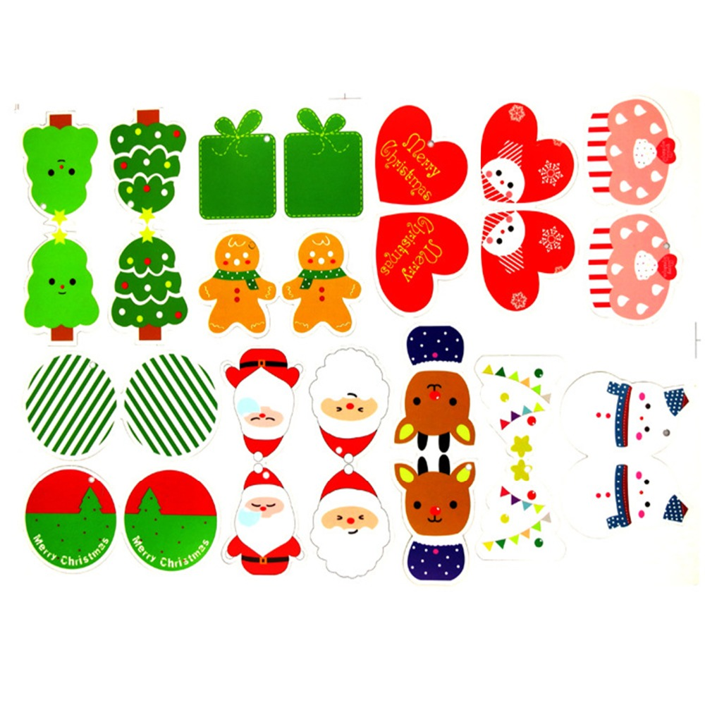 Animated christmas decorations clipart - 14 Pcs Cartoon Animal Snowflake Biscuits Hanging Christmas Tree Ornament Hand Made Polymer Clay Christmas Cards Decorations