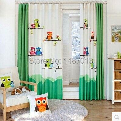 kinderzimmer gardine eule bibkunstschuur. Black Bedroom Furniture Sets. Home Design Ideas
