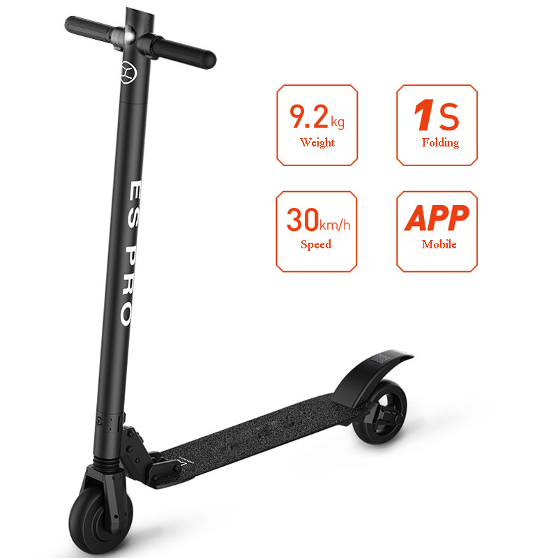 Nuevo 36 V 6 Pulgadas Es Pro Plegable Scooter Eléctrico Plegable Bicicleta Monopatín Hoverboard Con Aplicación De Suspensión Delantera Y Trasera Para Los Adultos