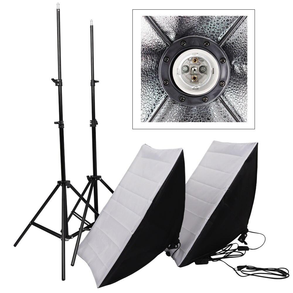 50x70 cm photographie Studio caméra Softbox avec 2 m lumière support Kit équipement photographique pour DSLR Photo Studio boîte d'éclairage