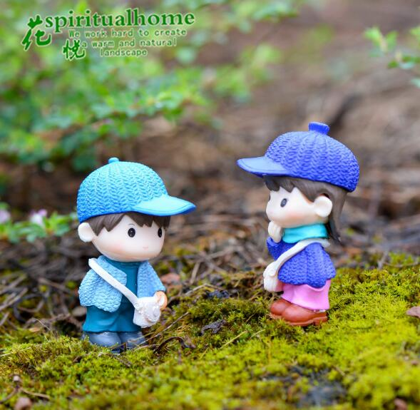 HERMOSO 8 Pcs Sweety Lovers Couple Figurines Miniatures Fairy Garden Gnome  Moss Terrariums Resin Crafts Boys And Girls In Figurines U0026 Miniatures From  Home ...