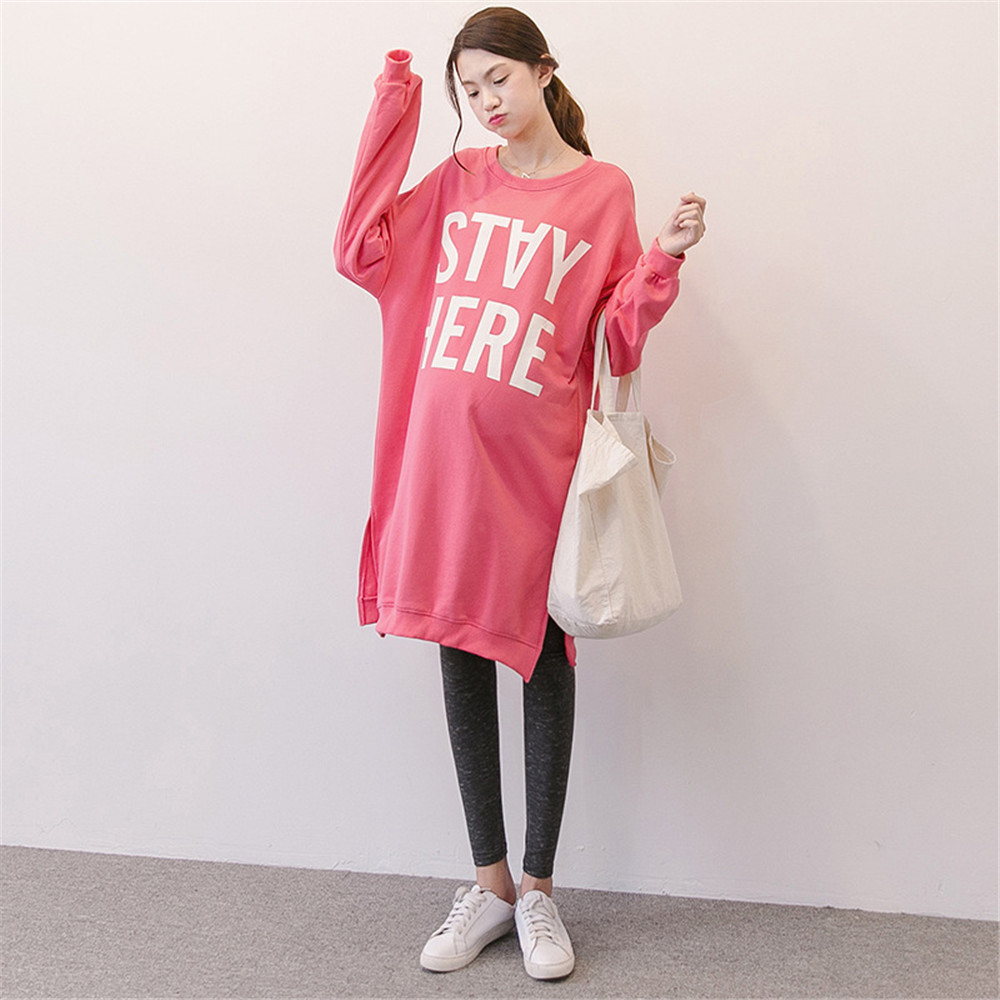Long Sleeve Cotton Pregnancy Maternity Hoodie Nursing Clothes Pregnant Dresses For Pregnant Women Sweatshirt Sudadera Maternidad купить недорого в Москве