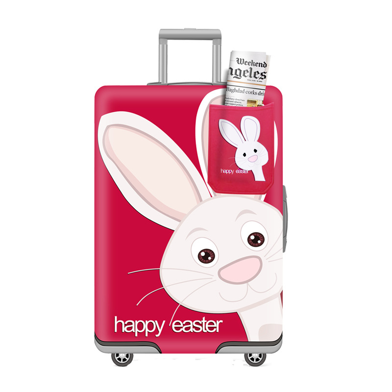 TRIPNUO Rabbit Elastic Thickest Luggage Suitcase Protective Cover For19-32 Inch Protect Dust Bag Case Cartoon Travel Cover