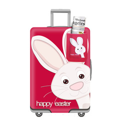 Tripnuo coelho elástico mais grosso mala de bagagem capa protetora for19-32 Polegada proteger saco poeira caso dos desenhos animados viagem capa