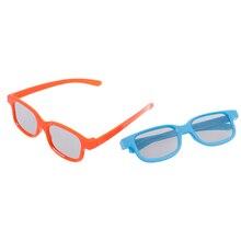 1 шт., 3D очки, детские, размер, круговые, поляризационные, пассивные, 3D очки для настоящего D 3D ТВ кино, кино, 2 цвета