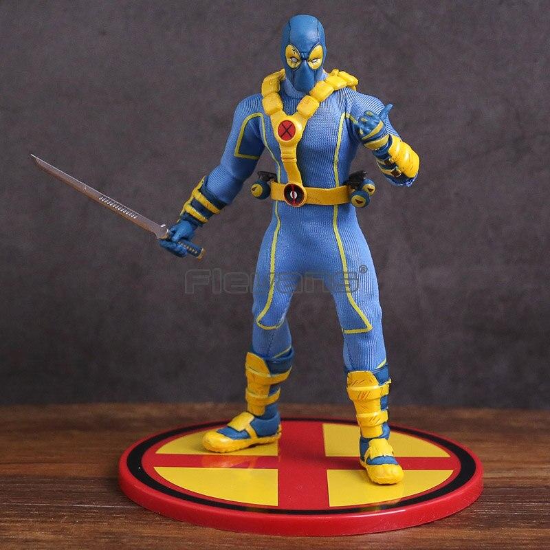 Mezco Toys X-MEN Deadpool Blue Ver. ONE:12 Collective PVC Action Figure Model Toy mezco the punisher figure one 12 collective 6 action figure free shipping