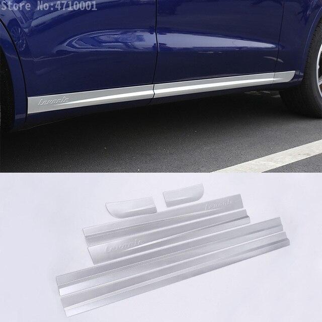 רכב סטיילינג ABS Chrome רכב גוף צד דלת קישוט רצועות לקצץ עבור מזראטי Levante 2016 מדבקות אביזרים חיצוניים 6pcs
