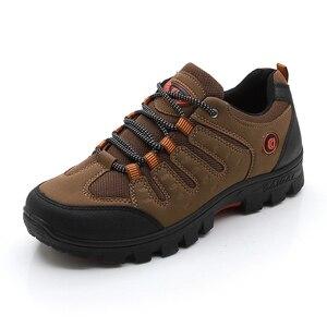 Image 1 - JXGXSX גברים של עבודה נעליים חיצוני נעלי ספורט גברים רשת נעלי החלקה ללבוש עמיד נעלי דיג זכר מדבר מגפי זרוק חינם