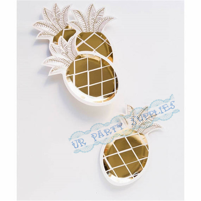 72pcs Gold Pineapple Party Plates Tutti Fruity Tropical Party Luau Gold Paper Plates Pineapple Party Tableware  sc 1 st  AliExpress.com & 72pcs Gold Pineapple Party Plates Tutti Fruity Tropical Party Luau ...