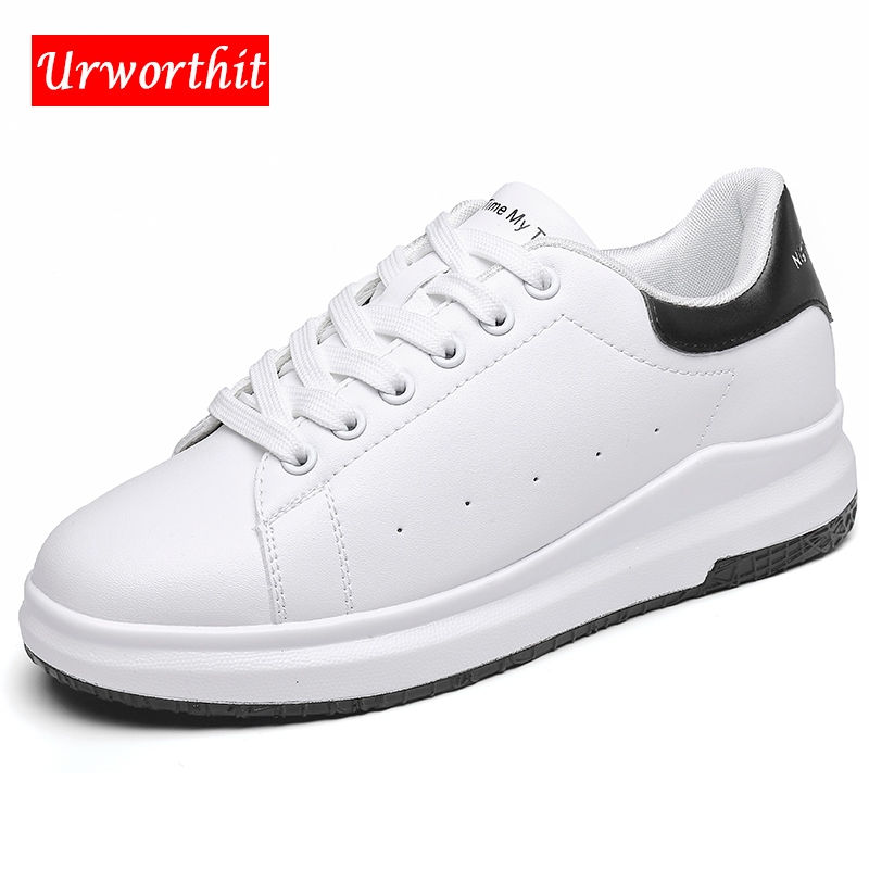 2018 Women Fashion Vulcanize Driving Leather Flats Lady Platform Sneakers Shoes Female White Moccasins Quality White Cheap Shoes