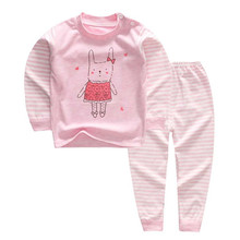 Lovely Striped Pink Cotton Baby Girl's Pajamas
