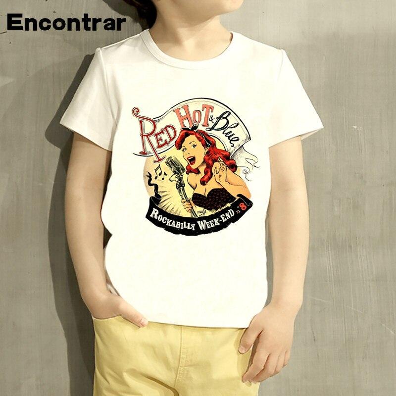 Kids Rockabilly 1960 Classical Design Baby Boys/Girl TShirt Kids Funny Short Sleeve Tops Children Cute T-Shirt,HKP4352