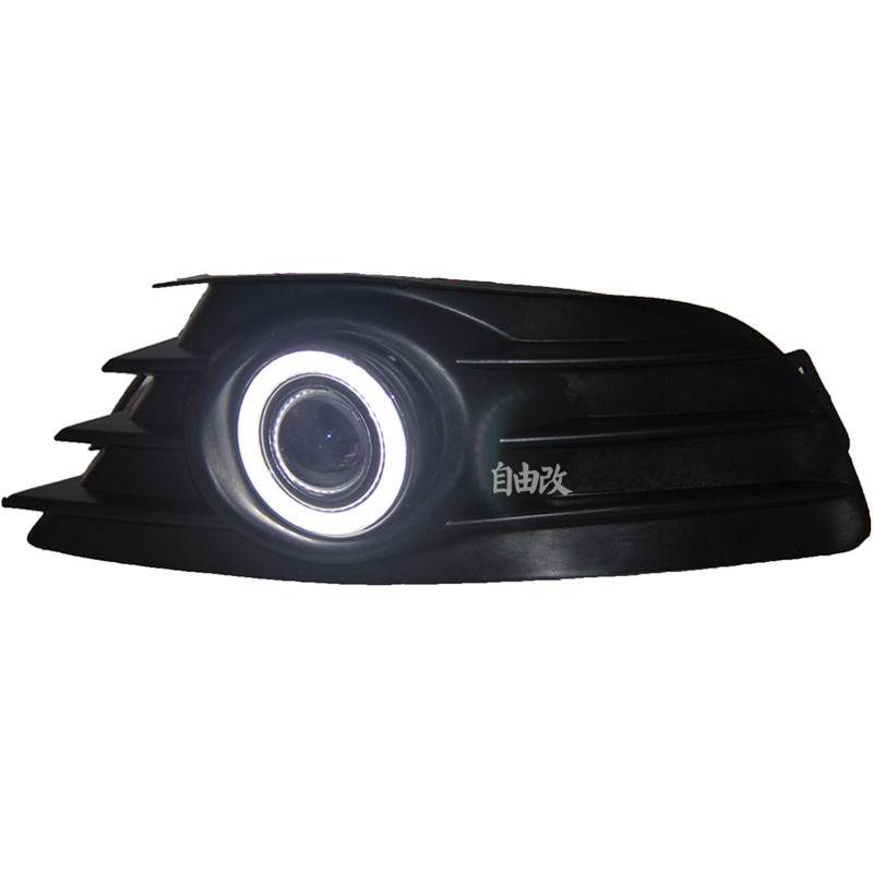 eOsuns COB angel eye led daytime running light DRL + halogen Fog Light + Projector Lens for Citron C4 C-Triomphe 2004-2008 leadtops car led lens fog light eye refit fish fog lamp hawk eagle eye daytime running lights 12v automobile for audi ae