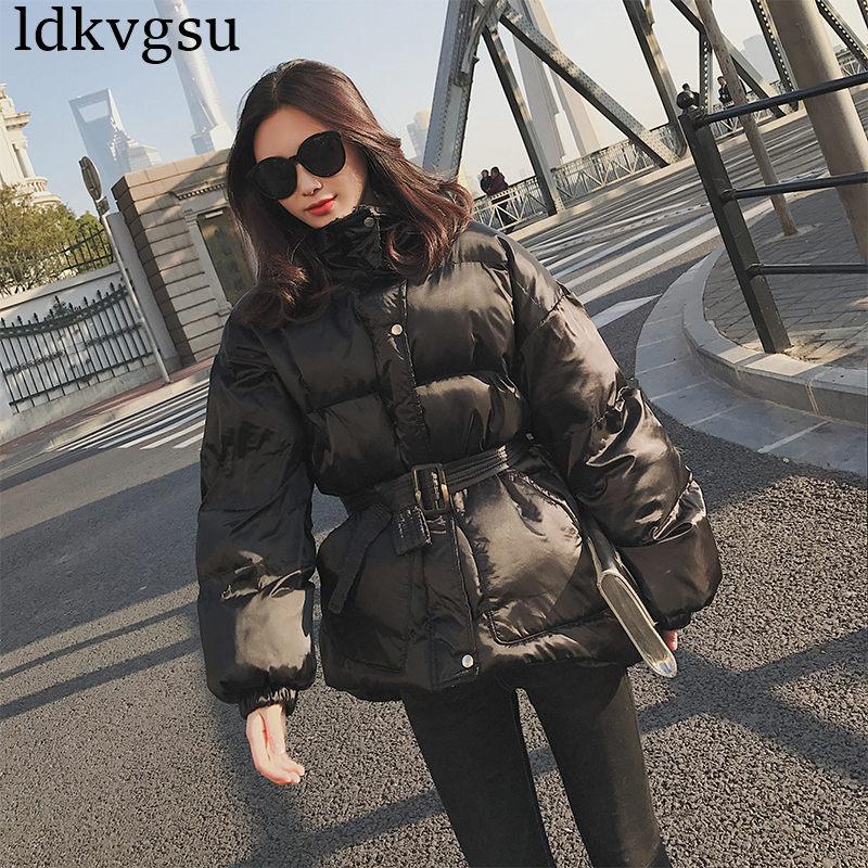 D'hiver Parkas Bas Filles Vestes Lâche Chic Épais 2018 Manteau Le De Survêtement Black Coton Hiver Taille Veste V43 Courte Section Vers Femmes 8PkXwOn0