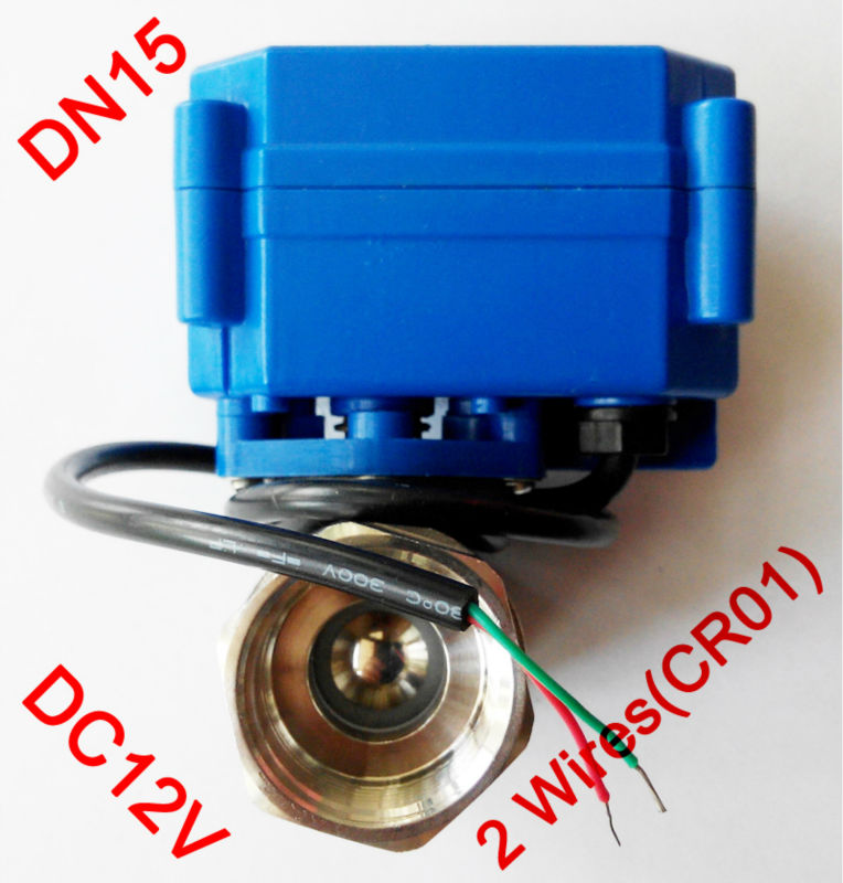 1/2 Mini electric actuator valve 2 wires(CR01), DC12V motorized ball valve SS304, DN15 electric valve for water control 1 dc12v ss304 3 way l port electric ball valve dn25 2 wires motorized ball valve for water heating