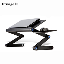 新しい高品質多機能人間工学携帯ラップトップスタンドポータブルラップトップテーブル折りたたみとマウスパッドノートブックデスク
