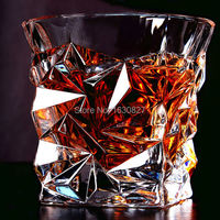 2 PCS / Set Square Crystal Whiskey Glass Cup For the Home Bar Beer Water and Party Hotel Wedding Glasses Gift Drop Shpping