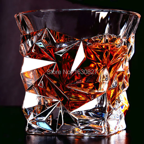 2 PCS / Set Square <font><b>Crystal</b></font> Whiskey Glass <font><b>Cup</b></font> For the Home Bar Beer Water and Party Hotel Wedding Glasses Gift Drinkware