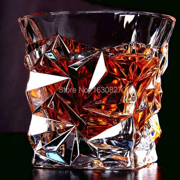 2 pcs/ensemble Carré Cristal Whisky Tasse En Verre Pour la Maison Bar Bière D'eau et Partie Hôtel De Mariage Lunettes Cadeau de Baisse shpping