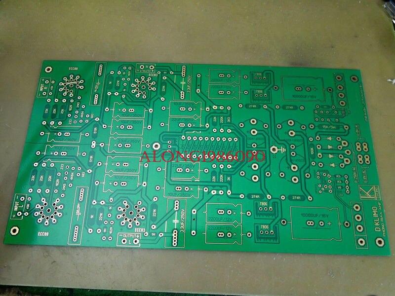 Base nue de carte PCB de préamplificateur de Phono de Tube de GZLOZONE ECC88 + 12AX7 sur le L11-10 de MELIN de D KLIMO