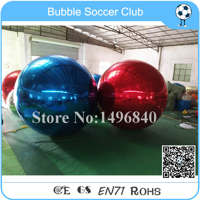 Free Shipping 2m Dia Collorful Decoration Mirror Balloon, Red And Blue Inflatable Mirror Ball ao058h 2m helium balloon ball pvc helium balioon inflatable sphere sky balloon for sale