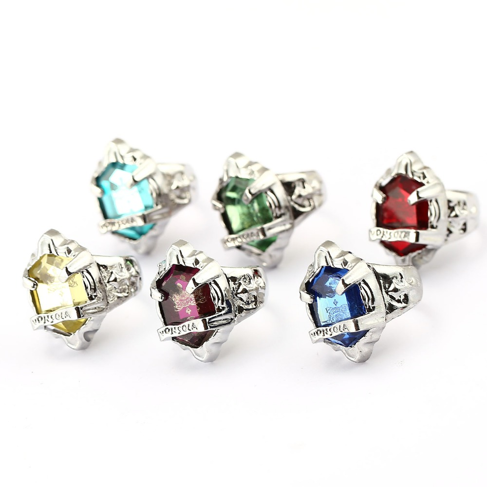 12pcs/lot t Hot sale Katekyo Hitman Reborn Ring Animation Ring Vongola Revolving Jewelry 6 colors Option with stone inset