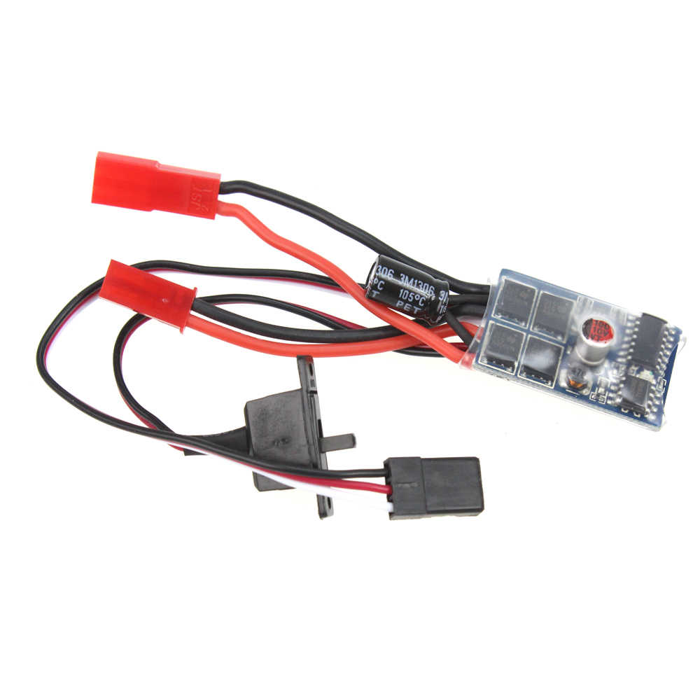 F05427 RC Auto 10A Brushed ESC Two Way Motor Speed Controller Geen Rem Voor 1/16 1/18 1/24 Auto Boot Tank + FS