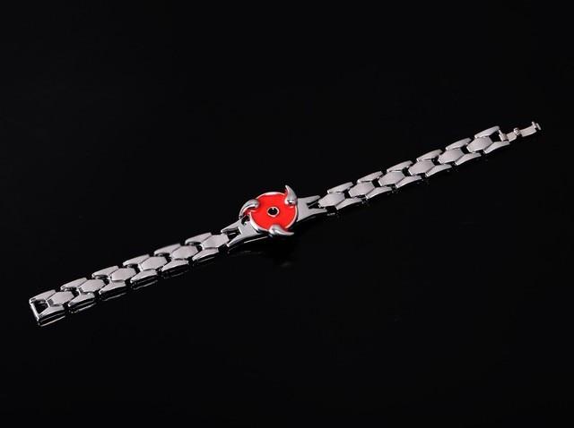 Naruto Red Rotation Sasuke Sharingan Metal Bracelet Bangles