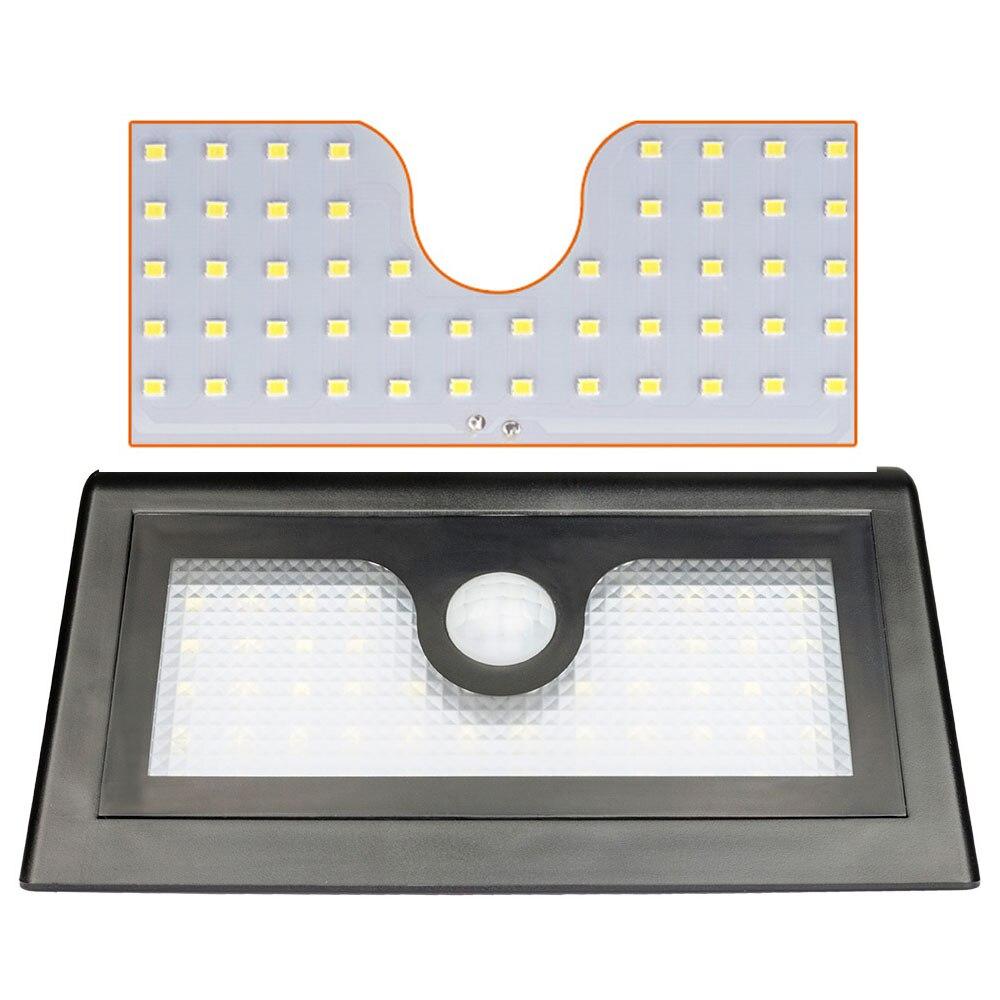 Waterproof Outdoor Motion Sensor Induction Light Wall Mounted Garden Light LED Solar Lamp Dim Mode 6500K 3W 50*2835 Lamps 18650