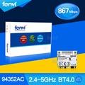 Fenvi AzureWave Broadcom BCM94352 BCM94352HMB 802.11ac Bluetooth Wi-fi 867 Mbps WLAN + BT 4.0 Metade Mini PCI-E Sem Fio-AC cartão Novo
