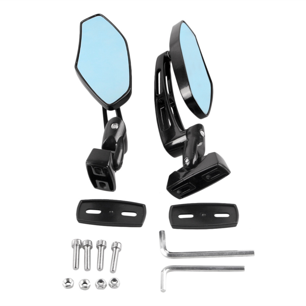 Motorcycle Accessories & Parts Rear View Side Rearview Wing Mirrors Set Universal For Honda Kawasaki /suzuki /yamaha /ducati Etc Models All Sport Bikes Pair Lovely Luster Frames & Fittings