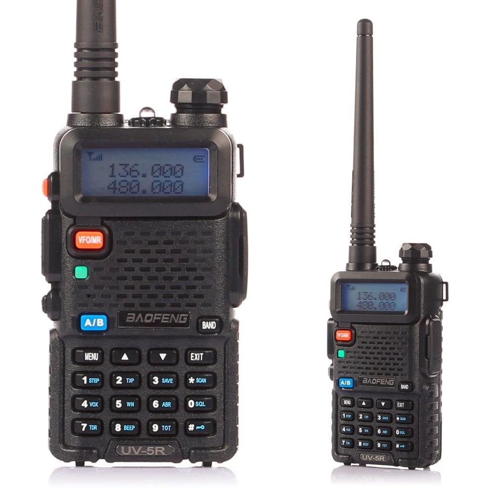 Baofeng UV-5R 136-174 / 400-520 MHz Walkie Talkie 5W VHF UHF երկկողմանի նվագախցիկ խոզապուխտ երկկողմանի ռադիոհաղորդիչ