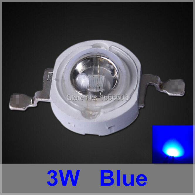 200 Pcs/lot LED Chip 3W Blue High Power LEDs Balls Blue Plant Grow Light Source LED Lamp Emitting Diode