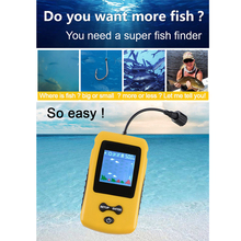 Portable Fish Finder Water Depth & Temperature Fish Finder with Wired Sonar Sensor Transducer Fish Finders Fishing lure цена 2017