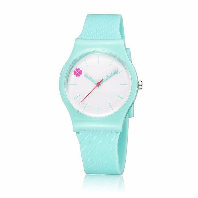 ピンククローバーファッション子防水3dローリー漫画デザインアナログ腕時計子供時計キッズクォーツ腕時計