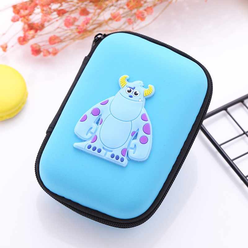 1 Piece Fish Pattern Silicone Wallet Earphone Container Kids Gift Coin Purse