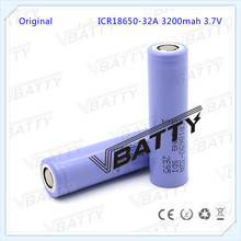 rechargeable 18650 battery 3200mah 32A 3.7V for samsung ICR18650-32A li-ion cell battery for flashlight(1pc)
