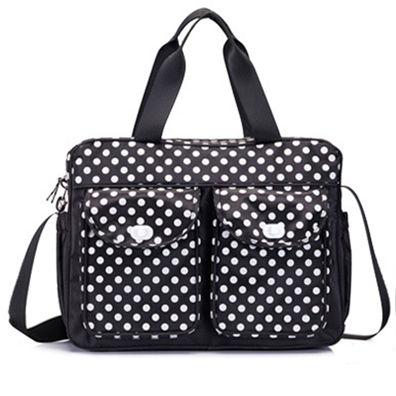 2016 3Pcs/set High Quality Baby Care Nappy Changing Mummy Bag Multifunctional Polka Dot Mummy Maternity Handbag
