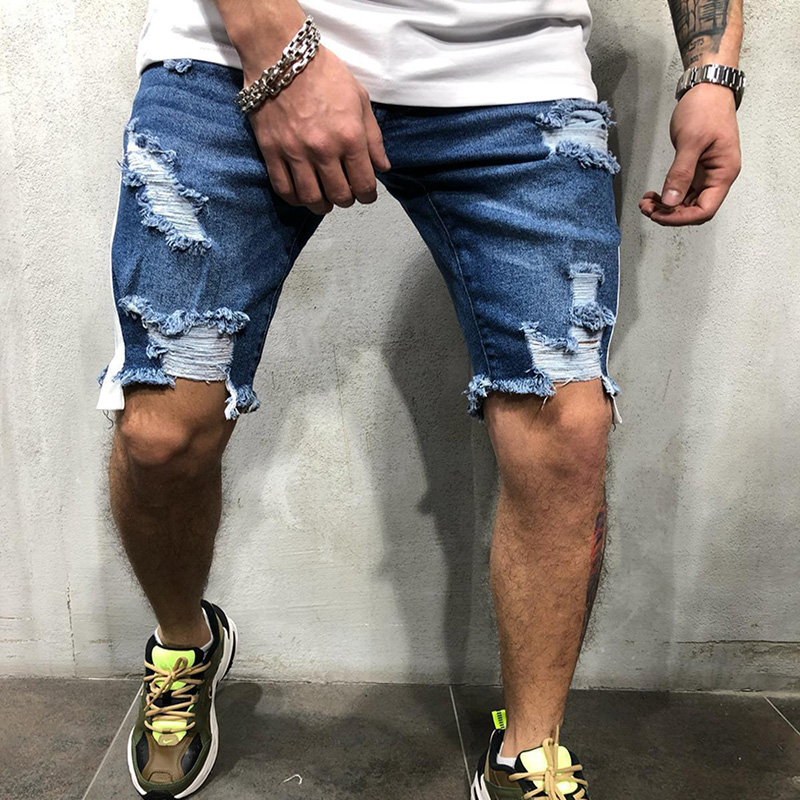 2019 Summer Thin Short Jeans Men Skinny Denim Shorts Fashion Streetwear Hip Hop Casual Beach Zipper fly Straight Pants
