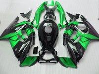De alta calidad de plástico kit de Carenado para Honda CBR600 F3 97 98 verde negro set de carenados CBR600 F3 1997 1998 FV11
