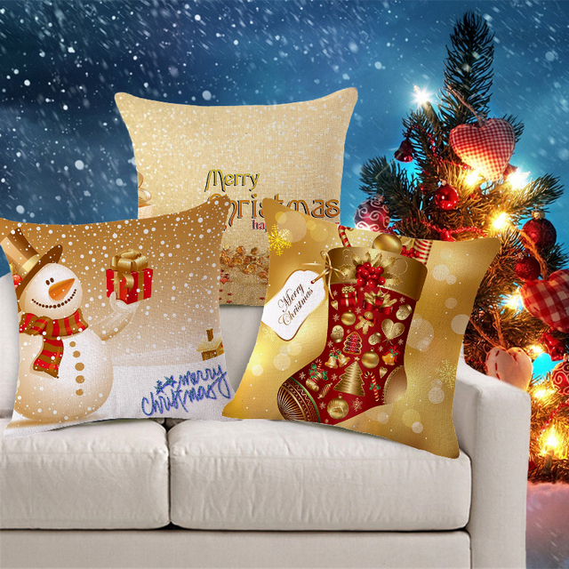 European Style Christmas Cushion Covers Luxury Decorative Pillows