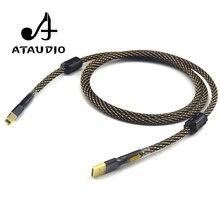 ATAUDIO Hifi USB кабель высокого качества тип А-тип в Hifi кабель для передачи данных для ЦАП