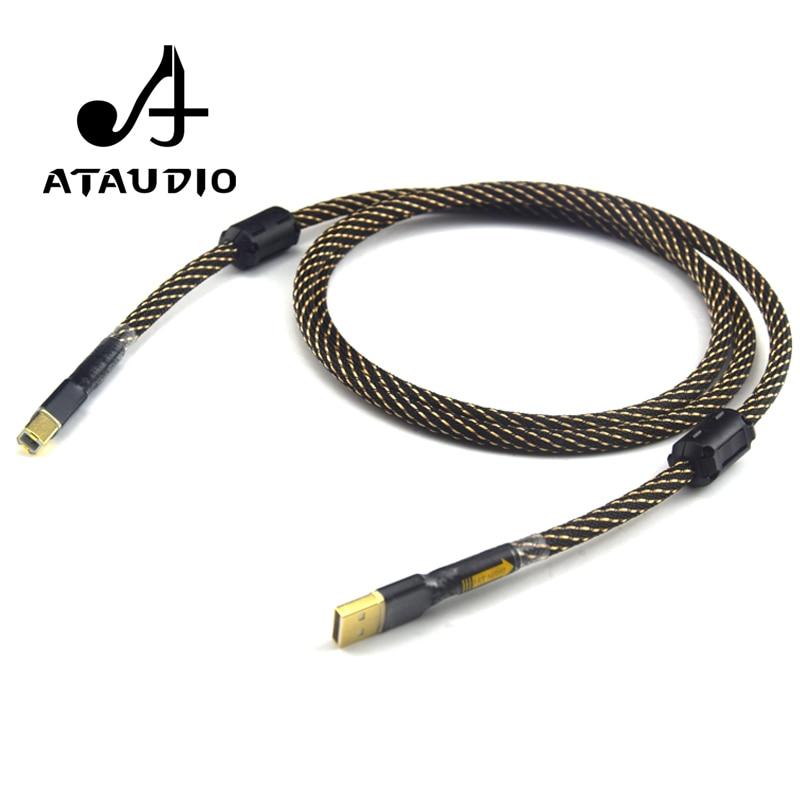ATAUDIO Hifi USB-кабель высокого качества тип A к Тип B Hifi Дата-кабель для DAC