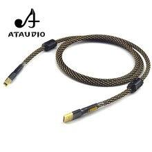 Ataudio alta fidelidade usb cabo de alta qualidade tipo a para tipo b cabo dados de alta fidelidade para dac