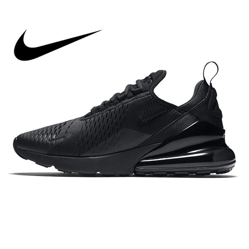 Originais Nike Air Max 270 tênis de Corrida Respirável Sapatos de Desporto Ao Ar Livre dos homens Confortáveis Lace-up Durável Tênis Jogging AH8050