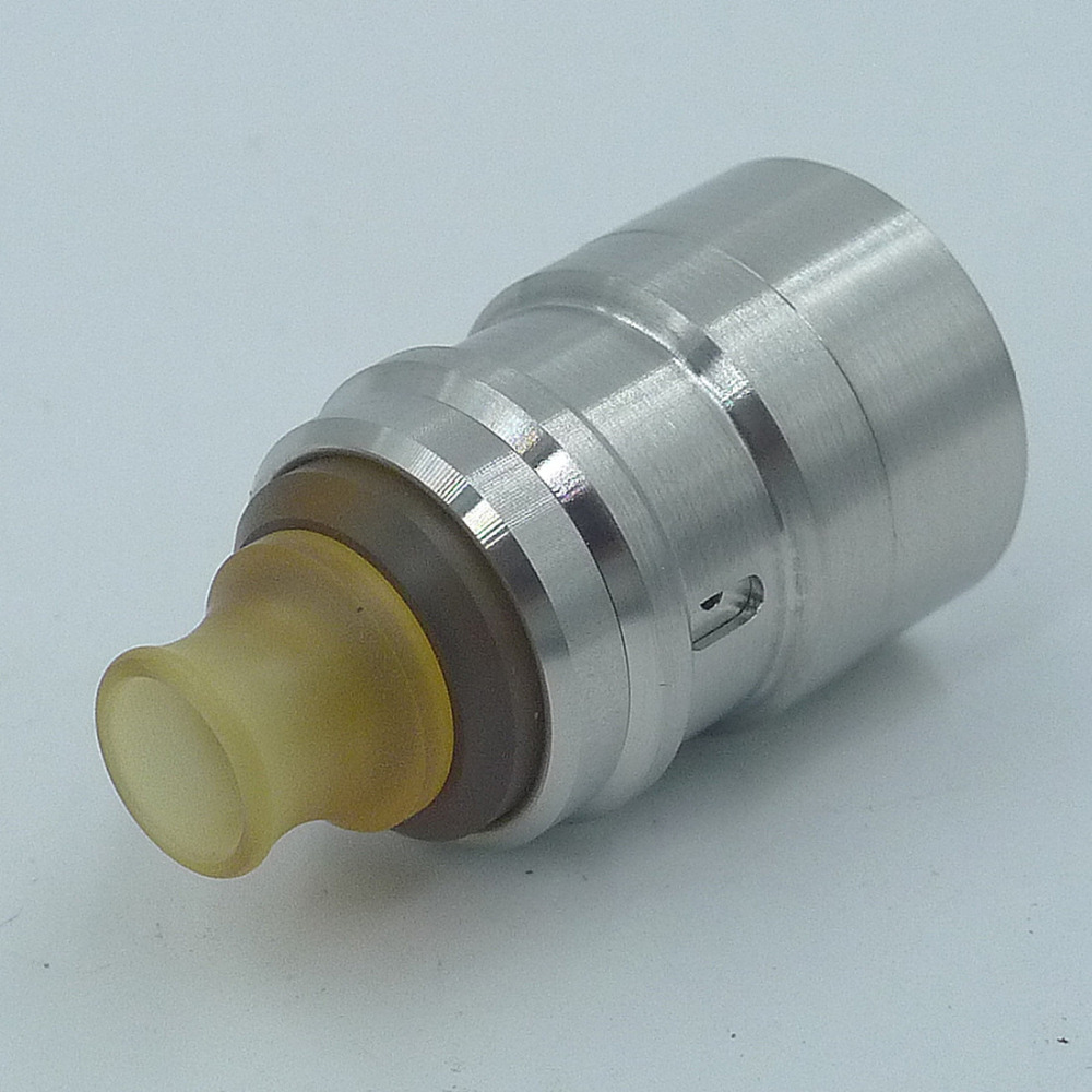 SXK Le Zephyr RDA Rebuildable Dripping Atomizer - Silver 316 Stainless Steel 22mm Diameter