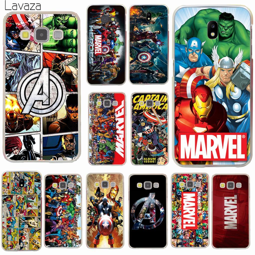 Lavaza Marvel Superheroes The Avengers Phone Case for Samsung Galaxy J5 J1 J2 J3 J7 2017 2016 2015 J5 Prime J7 EU Version Cover