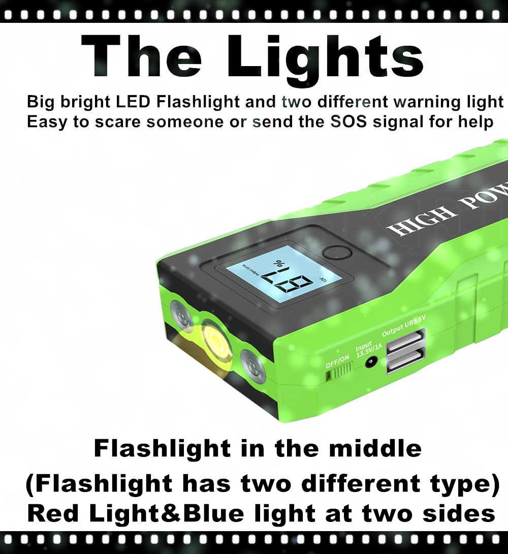 Cargador multifunción de alta potencia para coche, cargador de batería portátil de emergencia, paquete de Banco de energía, dispositivo de arranque 12V