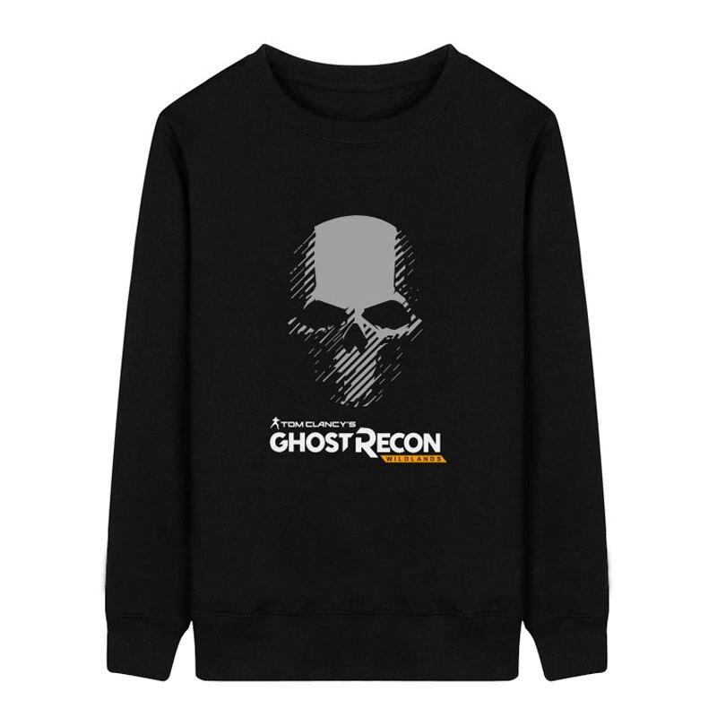 Tom Clancy's Ghost Recon Wildlands Title Hoodies Men Cosplay Pullover Sweatshirts Oneck Fleece Cotton Autumn Print Casual Jacket
