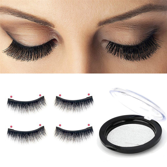 New Magnetic Eye Lashes Pretty Ultra Thin 02mm Makeup Magnetic Eye Lashes 3d Reusable False Magnet Eyelashes Extension 1pair In False Eyelashes From